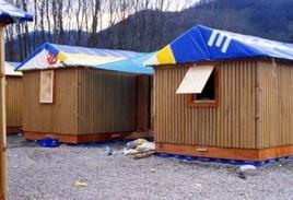 Paper Log House, Kobe, Giappone, 1994