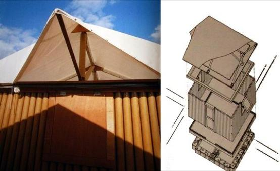 Paper Log House, Kobe, Giappone, 1994. Area: 16 m2