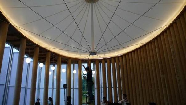 Paper Church, Kobe. Ing. Gengo Matsui. Area: 168 m2, 1995