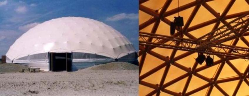 Paper Dome Theater, Amsterdam, 2003, Shigeru Ban