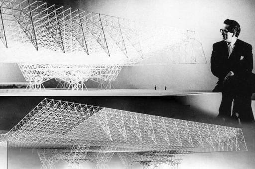 L'hangar dell'aviazione Usa. Architetto Konrad Wachsman