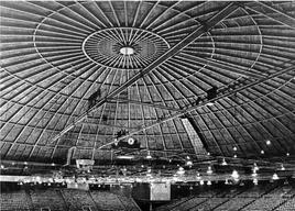 Cupola del Coliseum di Charlotte nel North Carolina. Ingegnere Fred Severud