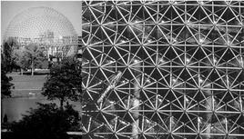 Padiglione statunitense, Esposizione Universale di Montreal, 1967. Architetto R. B. Fuller