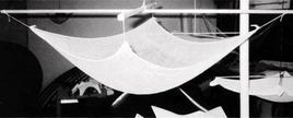 Plastico studio per la realizzazione di un guscio in calcestruzzo armato. Ing. Heinz Isler