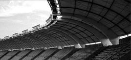 Stadio San Nicola, Bari. Architetto Renzo Piano. Particolare dell'interno