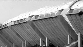 Stadio San Nicola, Bari. Architetto Renzo Piano. Particolare esterno