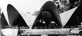 Ristorante Los Manantiales a Xochimilco in Messico, 1985. Architetto Felix Candela