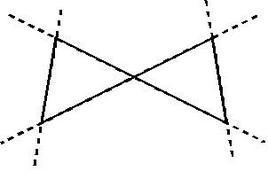 Un esempio di un confine di decisione che non può essere rappresentato da una rete con due strati di unità a soglia (Gibson e Cowan, 1990).