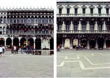 Partiti architettonici delle facciate  delle Procuratie Vecchie (1517-38) e  delle Procuratie Nuove (1582-1640) .