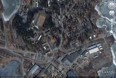 Localizzazione, da Google Earth, km 1.05 di altezza.