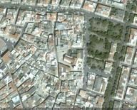 Ruvo, Piazza della Cattedrale, da Google Earth, 304 m. di altezza.
