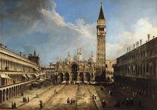 G. A. Canal, Piazza San Marco a Venezia, c. 1723 (da Wikimedia Commons).