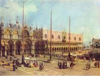 G. A. Canal, La Piazza San Marco (XVIII sec.) (da Wikimedia Commons).