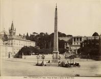 Piazza del Popolo e il Pincio, foto Fratelli D'Alessandri, XIX secolo (foto da  Wikimedia Commons).
