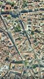 Via C. Rosaroll compresa tra la Caserma Garibaldi e lo slargo  di Porta Capuana (da Google Earth).