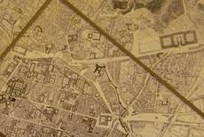 La conformazione dei luoghi alla fine del XVIII secolo (stracio da Pianta di Napoli, di G. Rizzi Zannoni, 1790, collezione privata).