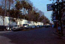 L'Orto Botanico, realizzato nei primi anni del  XIX secolo, precede l'Albergo dei Poveri, provenendo da piazza Cavour.