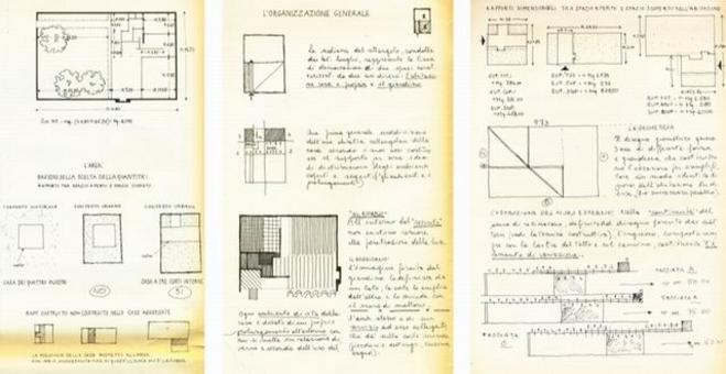 Alcuni ragionamenti  sull'organizzazione degli spazi della Casa a tre corti di L. Mies van der Rohe, attraverso il ridisegno.