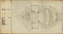 G. e A. Samonà, Teatro popolare a Sciacca, pianta a livello delle due sale, 1973 (Università Iuav di Venezia – SBD, Archivio progetti).