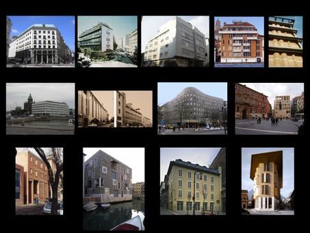 Progetti di Loos, Le Corbusier, Moretti, Gardella, Albini Helg, Aalto, G. e A. Samonà, Siza, Moneo, Fregna Polito, Zucchi, Segú, Gambardella Ottieri.