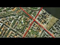 L'edificio è soluzione d'angolo dell'isolato (da Google Earth, 541 m. di altezza).