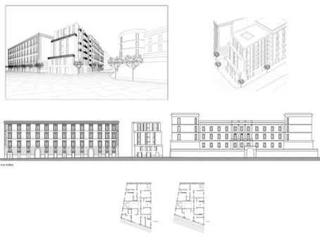 Slittamenti della facciata come ordini architettonici.