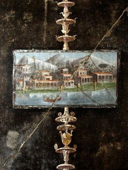 Le tabulae ceratae provengono  da Pompei : Archivio dei Sulpicii, Archivio di Cecilio Giocondo (liberti banchieri).Affresco di Pompei, foto Francesca Reduzzi.