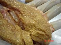 Linfonodo bovino: aspetto granuleggiante della superficie dovuto alla presenza di lesioni nodulari piccole (tubercolosi bovina).