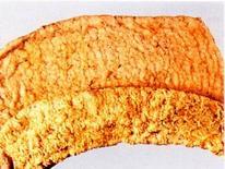 Suino. Intestino. essudato fibrinoso diffuso sulla mucosa.