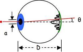 Frangie di diffrazione prodotte dalla pupilla sulla retina