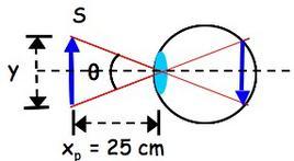 Immagine di una sorgente esterna posta nel punto prossimo sulla retina