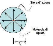 Fig. 1 – Sfera d'azione di una molecola