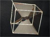 La superfice della lamina liquida che si forma su un profilo di filo di forma cubica tende ad occupare la superficie minima possibile