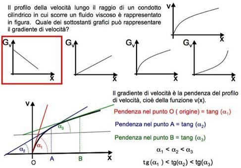 Il gradiente di velocità rappresenta la pendenza del profilo di velocità
