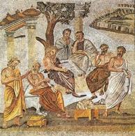 Accademia platonica, Mosaico pompeiano (1 d.C.). Fonte: Wikipedia