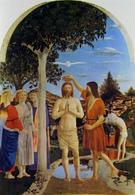Piero della Francesca, Il Battesimo di Cristo (1440-60), National Gallery, Londra. Fonte: Wikipedia