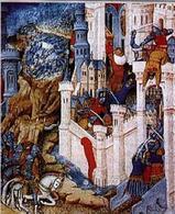 Sacco di Roma ad opera dei Visigoti, Miniatura del XV secolo. Fonte: Wikipedia