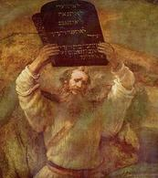 Rembrandt, Mosè riceve le tavole della legge (1659). Staatliches Museum, Berlino. Fonte: Wikipedia