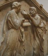 Luca della Robbia Paltone e Aristotele, Campanile di Giotto (1437-39), Firenze. Fonte: Wikipedia