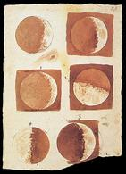 Fasi della Luna disegnate da Galileo Galieli (1616). Fonte: Wikipedia