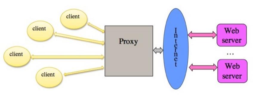 Usati per accedere a (web) server attraverso un firewall. -Cache situate sui client e/o sul proxy (condivisa dai client).