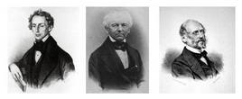 Johann Christian Andreas Doppler (1803-1853); Andreas  von Ettingshausen (1796-1878); Franz Joseph  Andreas Unger  (1800-1870). Fonte Wikipedia