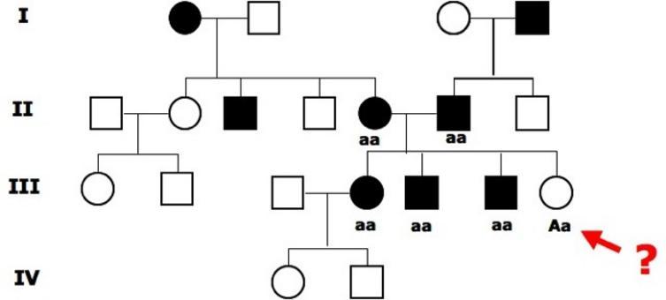 Se fosse recessivo dovremmo supporre ad esempio che il quinto e sesto individuo di seconda generazione che presentano il tratto siano omozigoti recessivi. Ma non potrebbe nascere da loro un individuo sano perché dovrebbe avere un allele A dominante.