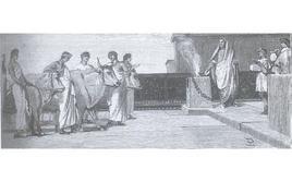 Il sacrificio (illustrazione di L. Pogliaghi, in F. Bertolini, Storia di Roma, Milano Fratelli Treves editori 1886).