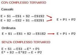 Fig. 7 Meccanismi di reazioni enzimatiche con due substrati. S1 e S2 rappresentano i due substrati che si trasformano nei rispettivi prodotti, P1 e P2