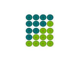 Schema dei macrostati possibili con 4 monete