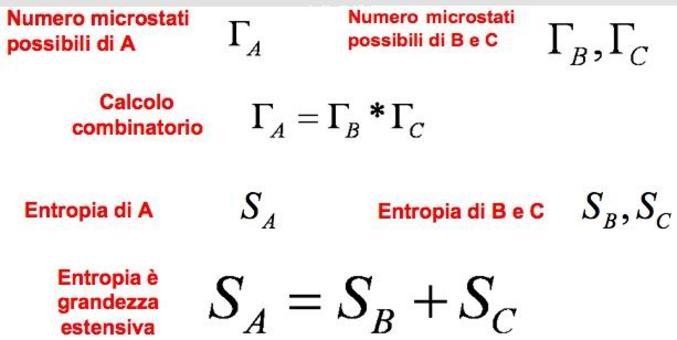 Sistema A di due sottosistemi B e C (indipendenti)
