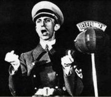 Il  ministro Goebbels, tra i principali sostenitori del cinema nazista. Immagine da: Storia In.