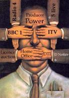 Immagine satirica del potere culturale mediatico nell'ostacolare l'informazione e l'espressione individuale. Immagine da: Media e Mondo.
