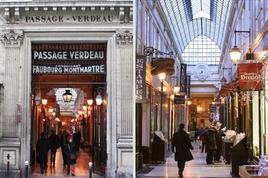 Passage Verdeau, una delle gallerie più note di Parigi, costruita nel 1847. Immagine da: L'internaute.